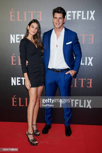Estela Grande and Diego Matamoros attend the 'Elite' premiere photocall at 'Reina Sofia Museum' in Madrid on October 2 2018