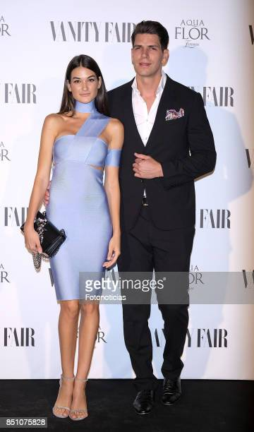 Estela Grande and Diego Matamoros attend the Vanity Fair cocktail at the Casino de Madrid on September 21 2017 in Madrid Spain