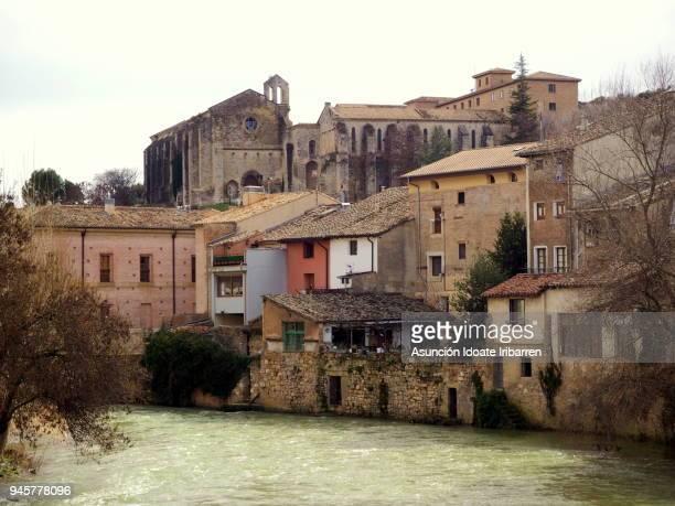 estella, a city on the banks of the ega river - comunidad foral de navarra fotografías e imágenes de stock