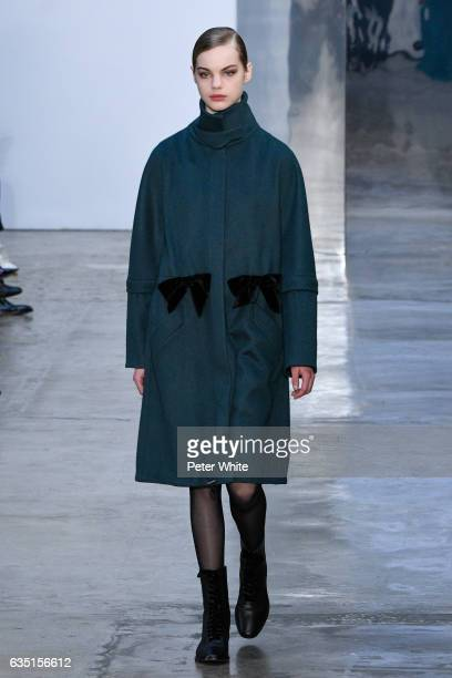 Estella Boersma walks the runway at Carolina Herrera show during New York Fashion Week on February 13 2017 in New York City