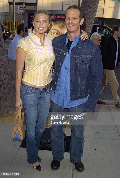 Estella Warren and Peter Berg during 'Fahrenheit 9/11' Special Screening's at AMPAS and Music Hall Theatre Arrivals at Academy Theatre and Music Hall...