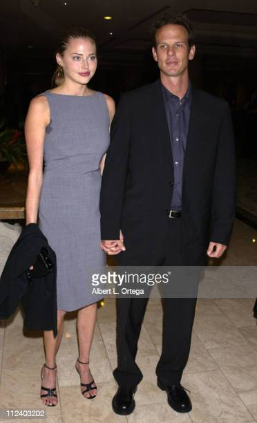 Estella Warren and Peter Berg during Wish Night 2002 Gala Honoring Halle Berry by The MakeAWish Foundation at The St Regis Hotel in Century City...