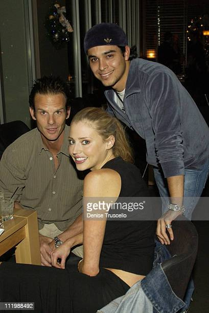 Estella Warren and Wilmer Valderrama with guest during Rolling Stones PreParty at Simon's Kitchen and Bar at Simon's Kitchen and Bar at the Hard Rock...