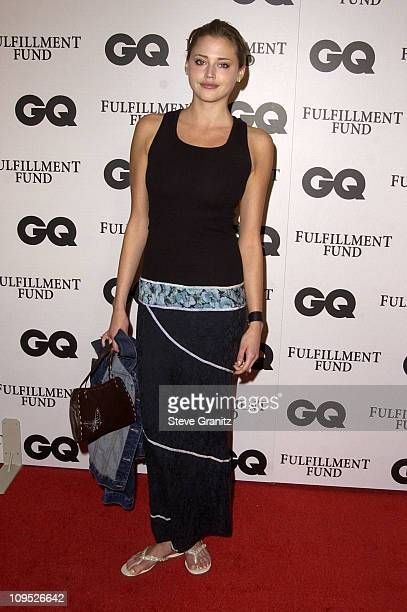 Estella Warren during GQ Celebrates its Third Annual Movie Issue Arrivals at The Sunset Room in Hollywood California United States