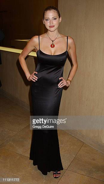 Estella Warren during Hollywood Film Festival's Hollywood Movie Awards Arrivals Backstage at Beverly Hilton Hotel in Beverly Hills California United...