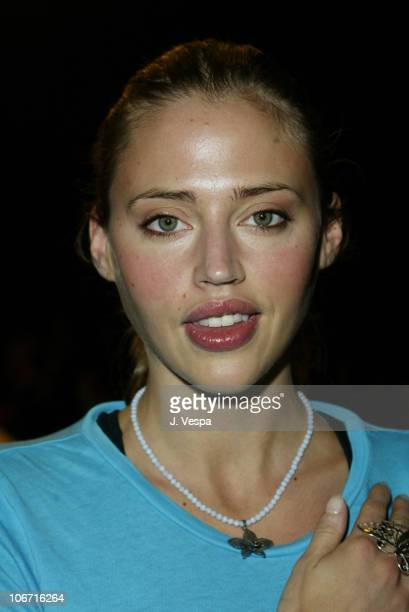 Estella Warren during MercedesBenz Shows LA Fashion Week Spring 2004 Sue Wong Backstage and Front Row at The Standard Downtown LA in Los Angeles...
