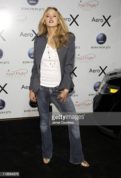 Estella Warren during SAAB Introduces Their New Concept Vehicle The 'Aero X' and Announces Their Philanthropic Partnership With Angel Flight America...