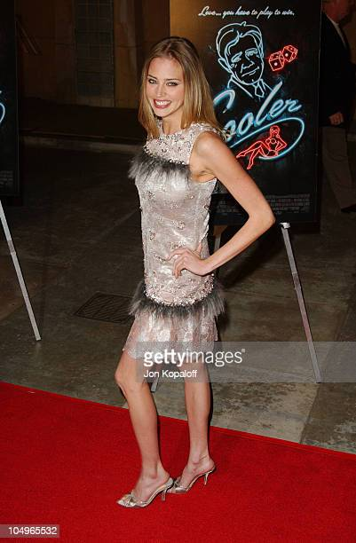 Estella Warren during The Cooler Los Angeles Premiere at The Egyptian Theater in Hollywood California United States
