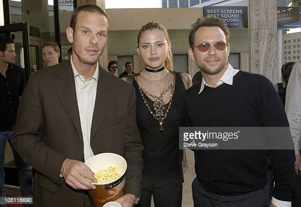 Estella Warren Peter Berg and Christian Slater during The Cooler Premiere Red Carpet Arrivals at The Arclight Dome in Hollywood California United...