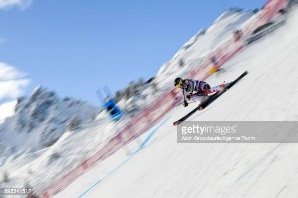 Estelle Alphand of France competes during the Audi FIS Alpine Ski World Cup Women's Giant Slalom on December 19 2017 in Courchevel France
