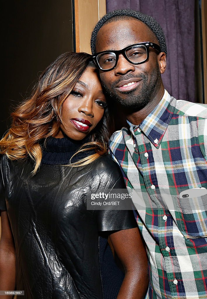 Estelle and Bryan-Michael Cox attend the 2013 Black Girls Rock Shot Callers Dinner on October 25, 2013 in New York City.