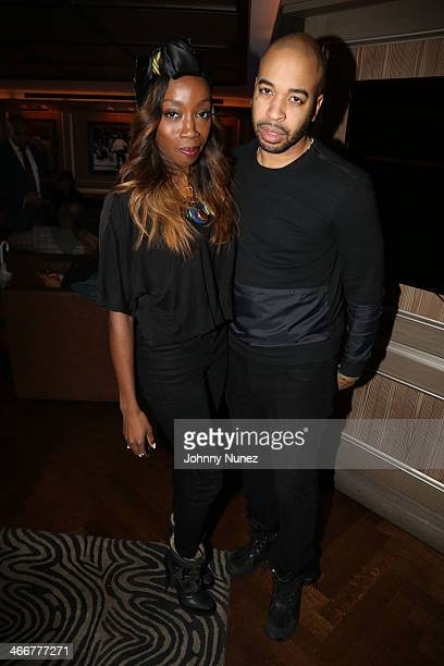 Estelle and De'Von Christopher attend the 'About Last Night' screening dinner on February 3 2014 in New York City