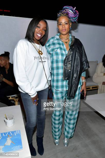 Estelle and Kelis attend the launch of the Jane Club in Larchmont Village on April 04 2019 in Los Angeles California