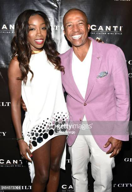 Estelle and Kevin Liles attend Gilt City and NeueHouse celebrate a sneak peek of Estelle's True Romance on September 3 2014 in New York City