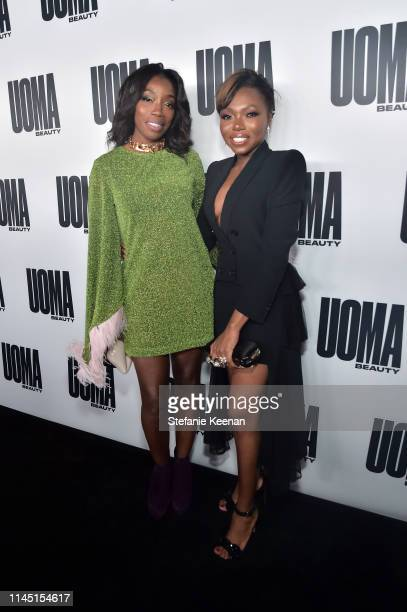 Estelle and Sharon Chuter attends UOMA Beauty Launch Event at NeueHouse Hollywood on April 25 2019 in Los Angeles California