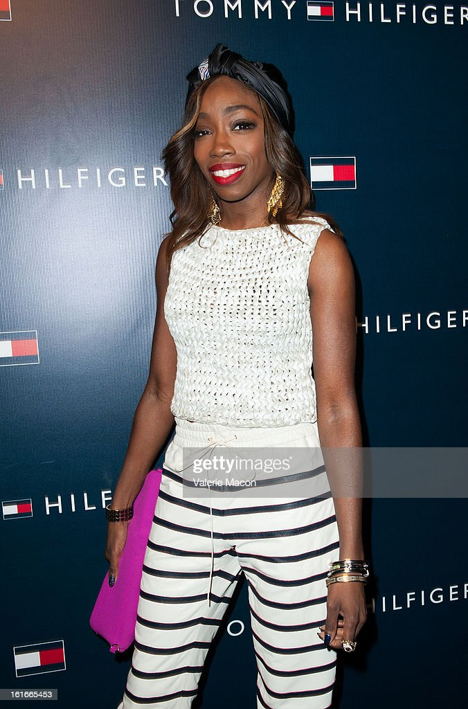 Estelle arrives at the Tommy Hilfiger LA Flagship Opening on February 13, 2013 in Los Angeles, California.