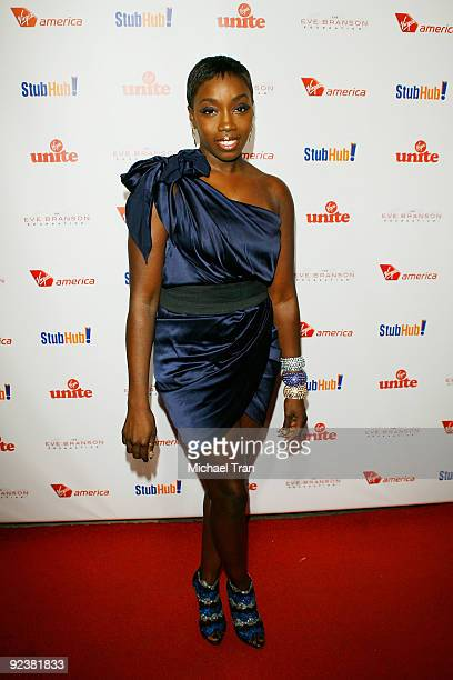 """Estelle arrives to the 3rd Annual """"Rock The Kasbah"""" fundraising gala held at Vibiana on October 26, 2009 in Los Angeles, California."""