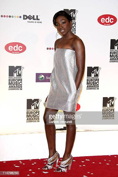 Estelle attends the 2008 MTV Europe Music Awards held at at the Echo Arena on November 6, 2008 in Liverpool, England.