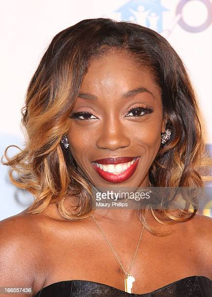 Estelle attends the 7th Annual Asomugha Foundation Gala at Millennium Biltmore Hotel on April 13 2013 in Los Angeles California