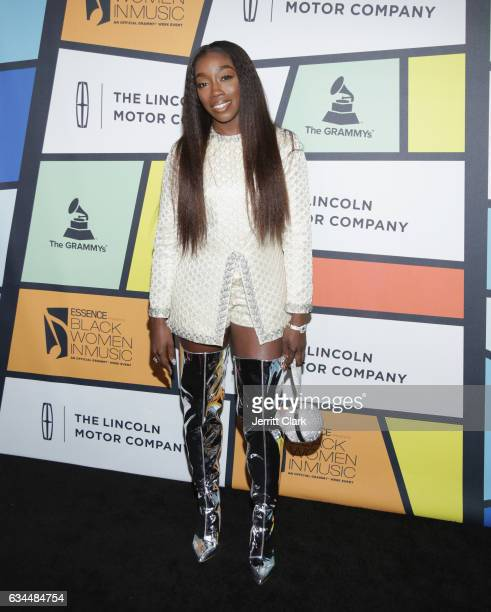 Estelle attends the 8th Annual Essence Black Women In Music Event at NeueHouse Hollywood on February 9 2017 in Los Angeles California