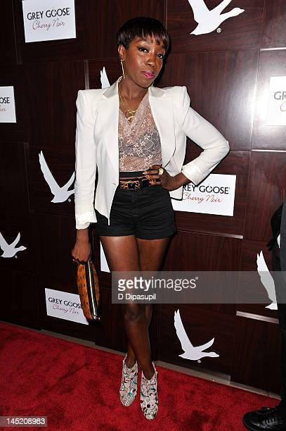 Estelle attends the Grey Goose Cherry Noir launch party at Gansevoort Park Avenue on May 23 2012 in New York City