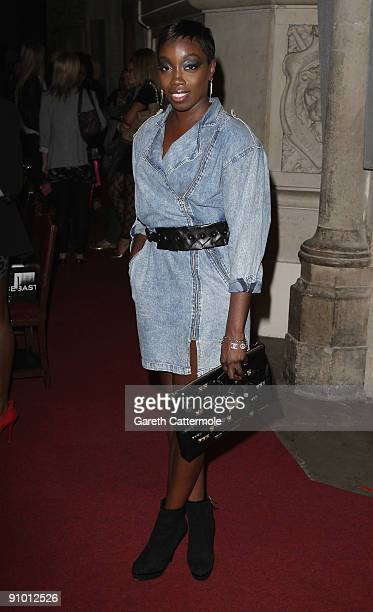 Estelle attends the House Of Holland Fashion Show during London Fashion Week Spring/Summer 2010 on September 21 2009 in London England