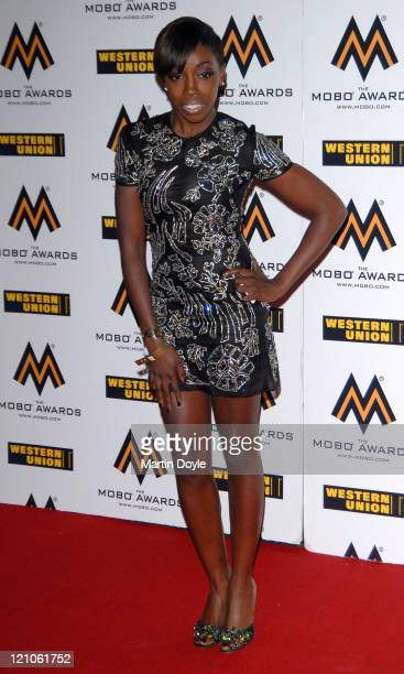 Estelle attends the MOBO Awards at the o2 Arena on September 19 2007 in London England