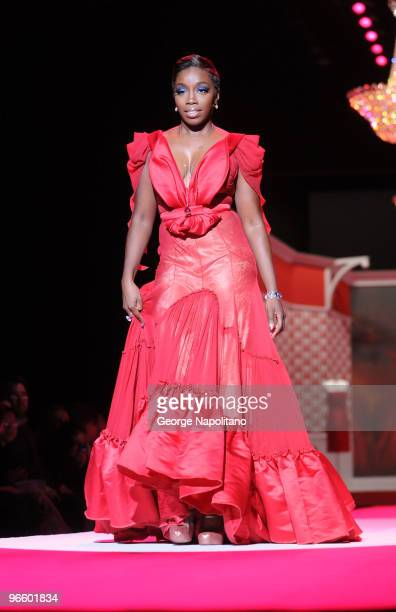 Estelle' attends the The Heart Truth Red Dress Collection Fall 2010 fashion show during Mercedes-Benz Fashion Week at Bryant Park on February 11,...