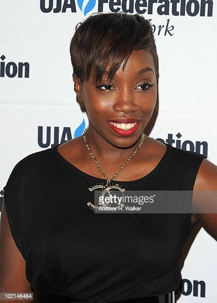 Estelle attends the UJAFederation's 2010 Music Visionary of the Year award luncheon at The Pierre Ballroom on June 16 2010 in New York City