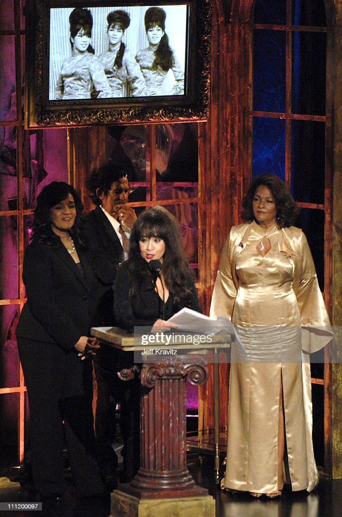 Estelle Bennett, Ronnie Spector and Nedra Talley of The Ronettes, inductees