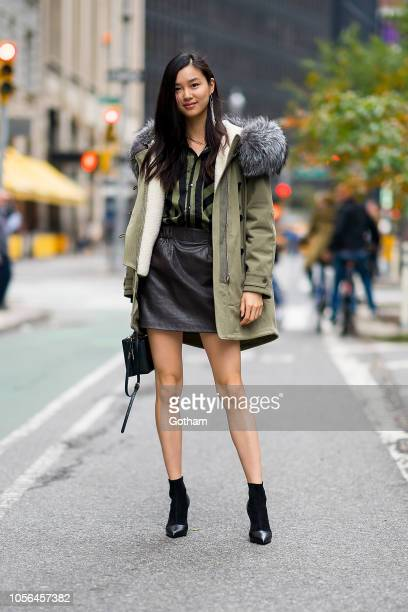 Estelle Chen attends fittings for the 2018 Victoria's Secret Fashion Show in Midtown on November 2 2018 in New York City