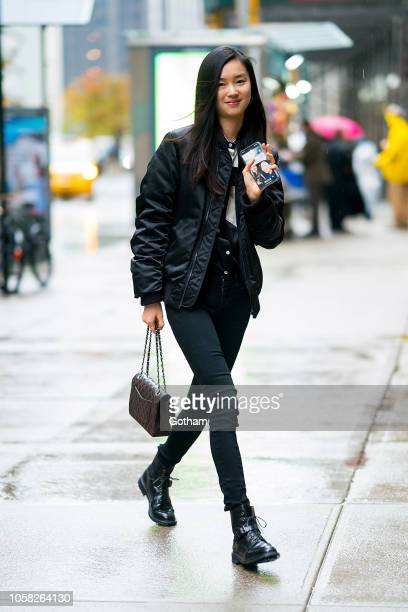 Estelle Chen attends fittings for the 2018 Victoria's Secret Fashion Show in Midtown on November 6 2018 in New York City