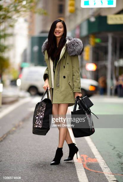 Estelle Chen leaves Victoria Secret office building in Midtown Manhattan on November 2 2018 in New York City