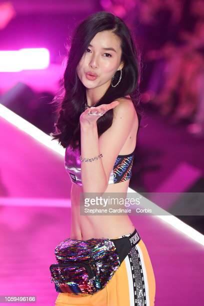 Estelle Chen walks the runway at the 2018 Victoria's Secret Fashion Show at Pier 94 on November 8 2018 in New York City