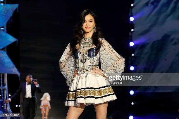 Estelle Chen walks the runway during the 2017 Victoria's Secret Fashion Show at MercedesBenz Arena on November 20 2017 in Shanghai China
