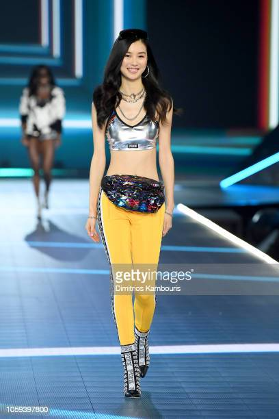 Estelle Chen walks the runway during the 2018 Victoria's Secret Fashion Show at Pier 94 on November 8 2018 in New York City