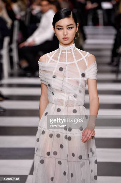 Estelle Chen walks the runway during the Christian Dior Spring Summer 2018 show as part of Paris Fashion Week on January 22 2018 in Paris France