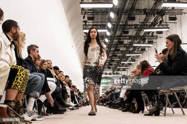 Estelle Chen walks the runway during the Paco Rabanne show as part of the Paris Fashion Week Womenswear Fall/Winter 2018/2019 on March 1 2018 in...