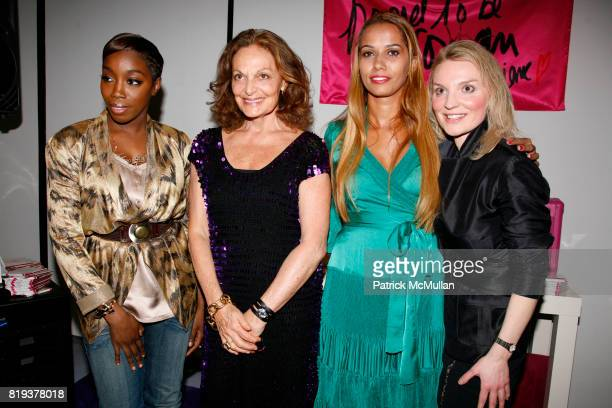 Estelle Diane von Furstenberg Panmela CastroAnarkia and Alyse Nelson attend DIANE von FURSTENBERG celebrates INTERNATIONAL WOMEN'S DAY with 'PROUD TO...