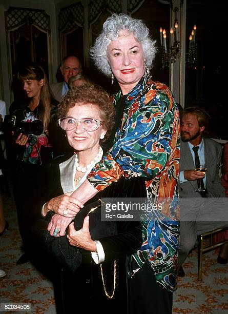 Estelle Getty and Bea Arthur