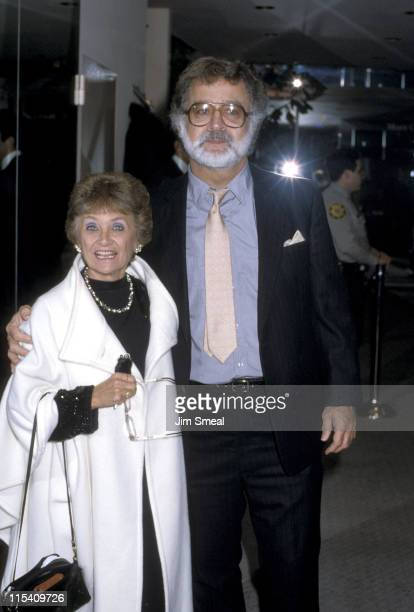 Estelle Getty and Brian Maggart during AIDS Fashion Show at Somper's in Los Angeles California United States