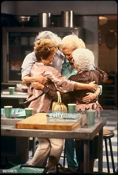 Estelle Getty as Sophia Petrillo, Bea Arthur as Dorothy Petrillo-Zbornak, Betty White as Rose Nylund, Rue McClanahan as Blanche Devereaux, circa 1988.