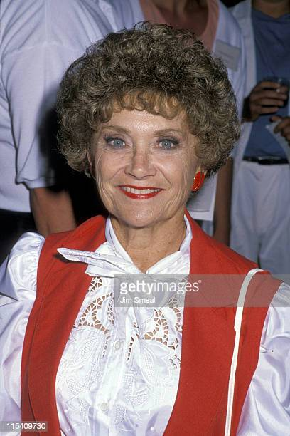 Estelle Getty during AIDS Project Fund Garden Party at One Institute in Los Angeles California United States