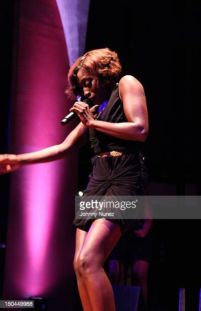 Estelle is featured at The 'Wonderful Life' Intimate Performance Series presented by Rosa Regale at Universal Studios Rising Star on August 17 in...