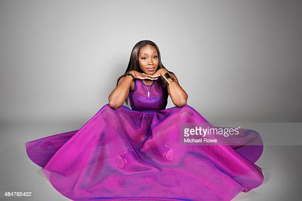 Estelle is photographed at the 2015 Essence Festival for Essence Magazine on July 3 2015 in New Orleans Louisiana