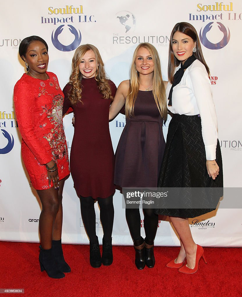 Estelle, Jane Torpie, Siobhan Hoffman, and Gabriela Isler attend The Resolution Project's Resolve 2015 Gala at The Harvard Club on October 15, 2015 in New York City.