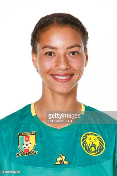 Estelle Johnson of Cameroon poses for a portrait during the official FIFA Women's World Cup 2019 portrait session at Crowne Plaza Montpellier Corum...