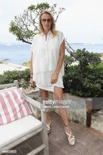 Estelle Lefebure attends Kering Women in motion Lunch with Madame Figaro on May 22, 2017 in Cannes, France.