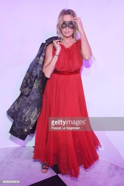 Estelle Lefebure attends Le Bal Surrealiste Dior during Haute Couture Spring Summer 2018 show as part of Paris Fashion Week on January 22 2018 in...