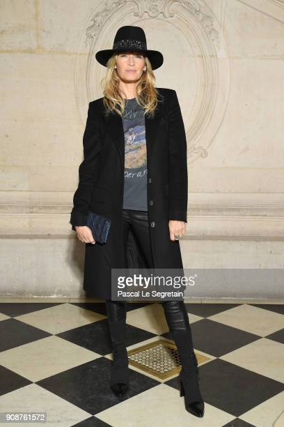 Estelle Lefebure attends the Christian Dior Haute Couture Spring Summer 2018 show as part of Paris Fashion Week on January 22 2018 in Paris France